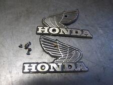1982 - 1986 Honda CB450 SC Nighthawk Gas Fuel Tank Badges Emblems Pair