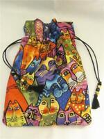 Rainbow Cat Wicca Pagan Tarot Card Drawstring Mojo Bag Pouch  - FREE SHIPPING