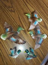 Vintage Mallard Duck Wall Hangings 5pc Different sizes hunting camp decor