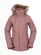 VOLCOM Womens 2021 Snowboard Snow FAWN INSULATED JACKET Rose Wood