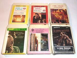 LOT DE 6 CARTOUCHES 8 PISTES D'ÉDITIONS CASSETTE AUDIO CARTRIDGE 8 TRACKS