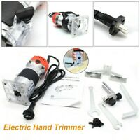 800W 1/4 Electric Hand Trimmer Wood Laminator Palm Router Joiner Tool Set 110V