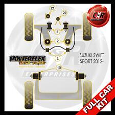 Suzuki Swift Sport (10 on) Front Arm Rear Bush Adj Powerflex Black Full Bush Kit