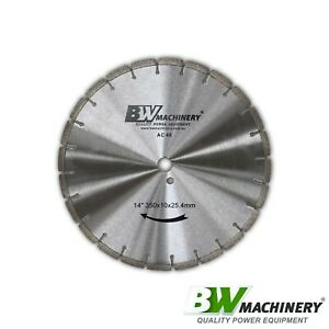 "BWM 14""/350mm AC40 Asphalt Concrete Cutting Diamond Blade *Free Shipping*"