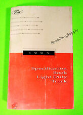 1995 Ford Truck F150 F250 F350 Bronco E150 Specification Book Manual 7.3L Diesel