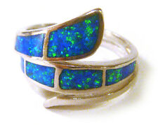 Ring from Mexico Size 6 Taxco .925 Sterling Silver Unique Opal