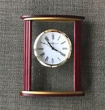 Howard Miller Victor 645-623 Alarm Mantel Clock Roman Numerals