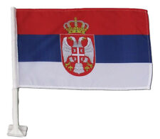 "(2 Pack) Serbia Country Car Window Vehicle 12x18 12""x18"" Flag"