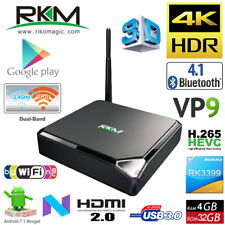 RKM MK39 4G 32G Hexa Core CPU RK3399 Android 7.1 TV Box Media Player BT WiFi VP9