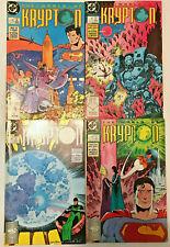 WORLD OF KRYPTON#1-4 VF  LOT 1987 SUPERMAN DC COMICS