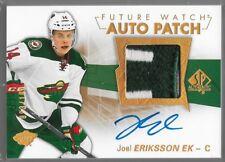16/17 SP Authentic Future Watch Auto Patch Rookie Joel Eriksson Ek /100 155 Wild