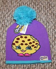 New! Girls Shopkins Choc Chip Cookie Beanie/Hat (Knit; Pom) - Size 2T-3T-4T