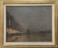 Early 20th Century Impressionist English Harbor Scene (Signed, Oil on Canvas)