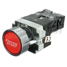 Red LED Illuminated Car Engine Power Start Ignition Starter Push Button Switch