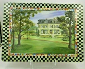 1 Mackenzie Childs Courtly Check Placemat Cork Back Aurora Farmstead