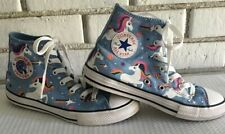 Girls Converse Chuck Taylor Unicons Unicorns Tennis Shoes Ankle Size 3 Pre-Owned