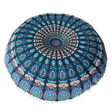 groß Mandala Boden Kissen rund Bohemian Meditation Kissenbezug Ottomane Hocker