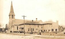Postville IA~3:00 PM @ NEW? (Young Trees) St Paul's Lutheran~Parsonage RPPC 1944