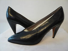 """Court Shoes Top Range Leather """" Navy Blue """" I. Bossi T.39,5"""