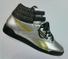Reebok Classic FreeStyle Silver/Gold Birthday High Top Sneaker Youth Girls 4.5