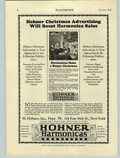 1926 PAPER AD Hohner Christmas Harmonicas Bing Toys Kiddyphone Typewriter