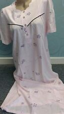 Waite's Short Sleeve floral Pink Nightdress size  L 16-18 Jersey Cotton Nightie