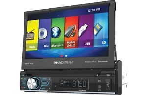 """Soundstream VR-74H2B 1 DIN CD/DVD Player 7"""" Bluetooth Android MobileLink 8.2"""
