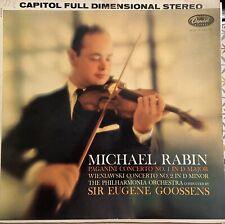 Michael Rabin  Paganini  Wienlawski Philharmonia Orch Goossens  Capitol P 8534.
