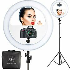 "18"" LED Video Ring Light with Mirror, 6ft Stand Tripod, Adjustable Heavy Duty"