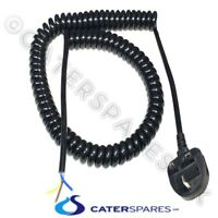 CURLY MAINS POWER SUPPLY CABLE 13 AMP LEAD 3 CORE 1.5MM C/W MOULDED PLUG TOP
