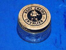 Vintage Boot Creme Cavalier Jar w/ Lid Baltimore 18666