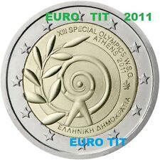 2 €    GRECE  2011   1   X   PIECE  COMMEMORATIVE    JEUX  D'ETE     NEUVE