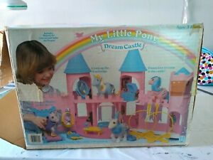 Vintage 1980s My Little Pony Dream Castle incomplete with Box