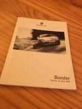 Porsche Boxster lista precio vehículos accesorios catálogo folleto 08 / 07