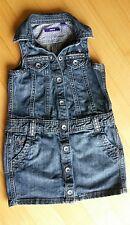 Mexx Jeanskleid Strass Kleid Jeans Gr. 110 Mädchen, NEU