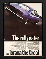 """1972 LJ HOLDEN TORANA GTR XU1 AD A3 CANVAS PRINT POSTER 16.5""""x11.7"""""""