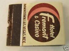 1959 Fremont Hotel Casino Las Vegas NV Matchbook