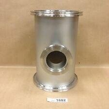 "Kurt Lesker QF160-600-NL Custom ISO160 Nipple with ISO63 Port, OAL: 10-1/2""."