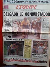 journal  l'équipe 16/07/88 CYCLISME TOUR DE FRANCE 1988 DELGADO BERNARD