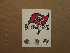 NFL Tampa Bay Buccaneers Vintage Sticker Sheet Lot of 4 Logo Football Stickers