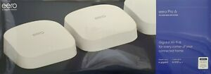 EERO Pro 6 Gigabit Wi-Fi 6 Mesh Wifi System 3-pack K010311 - New Unopened Box