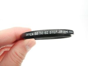 Tiffen 58mm To 62mm Camera Lens Step Up Ring Made In The U.S.A.