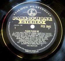 THE BEATLES PLEASE PLEASE ME BLACK/GOLD  VINYL LP RETRO BOWL HIGH QUALITY,