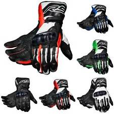 Leather All Knuckles Nylon Exact Motorcycle Gloves
