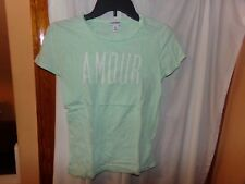 WOMANS XS LOT 3 OLD NAVY/ BLACK LOVE MORE/ GREY W/PINK OLD NAVY/ GREEN AMORE