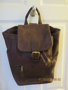 COACH Large Brown Leather Backpack