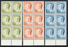 Luxemburg 919 - 921 postfrisse blokken van vier