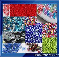 "New & Used Beads Mix -1000pcs PlasticGlassWoodstone (90%plastic) 1-9m""m"
