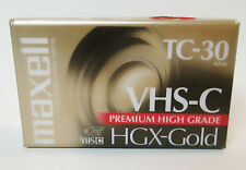 Maxell HGX-Gold VHS-C TC-30 Premium High Grade Camcorder Video Cassette