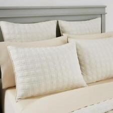 Oake Jersey Quilted 100% Cotton Standard Pillow Sham Ivory $100